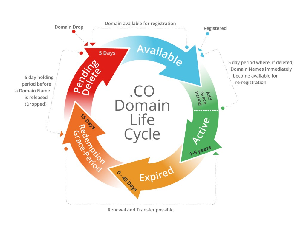 .CO Domain Lifecycle